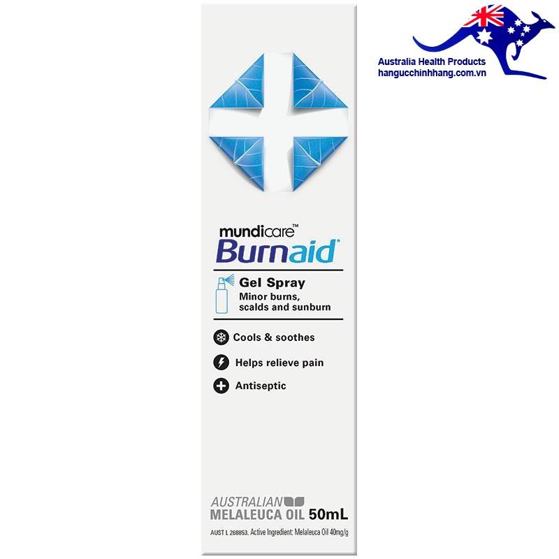 Chai xịt phỏng Burnaid 50ml