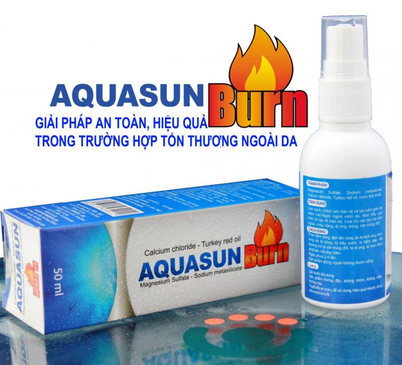 Chai xịt trị bỏng và trầy xước da Aquasun Burn