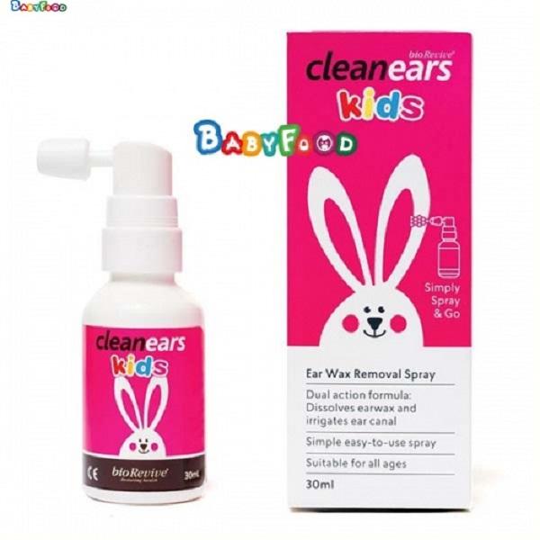 Chai xịt vệ sinh tai cho bé BIOREVIVE Clean Ears Kids