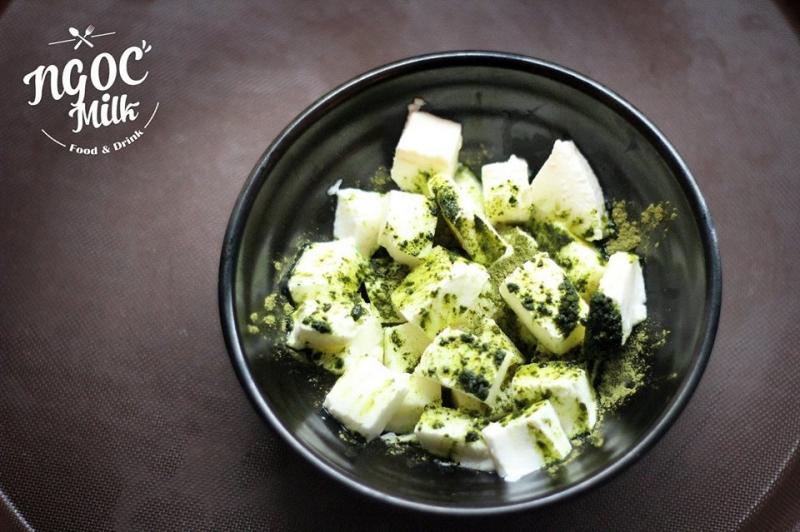Sữa chua dẻo matcha - một trong những món được yêu thích nhất trong thực đơn