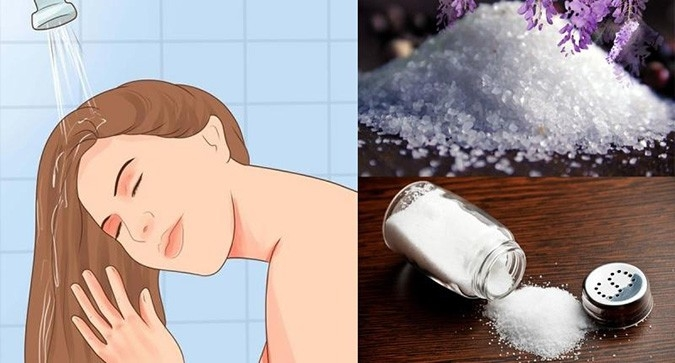 Ủ tóc bằng nước muối giúp tóc bóng mượt, khỏe mạnh