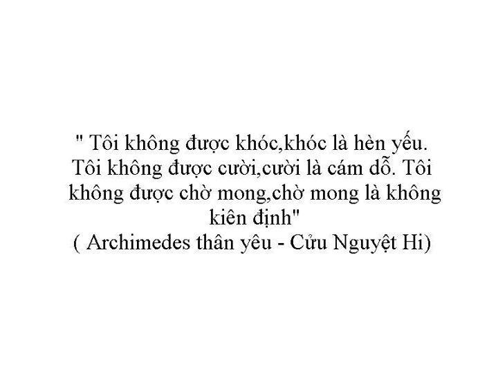 Quotes câu nói trong truyện Archimedes thân yêu