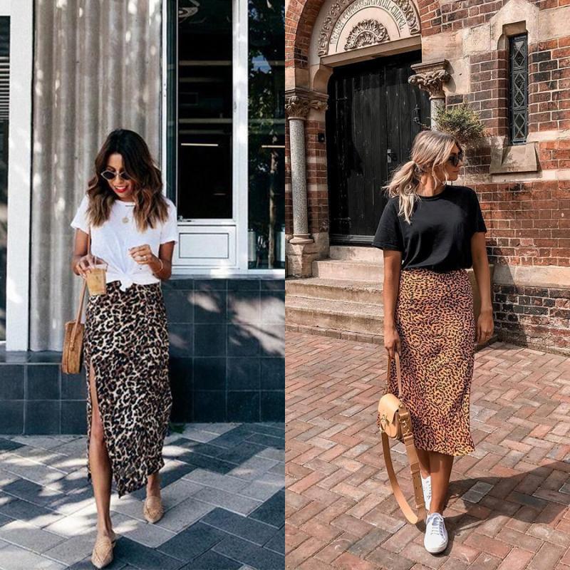 Chân váy midi và áo thun