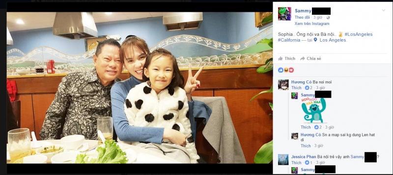 Hình ảnh mà con trai tỷ phú Hoàng Kiều chia sẻ trên Facebook