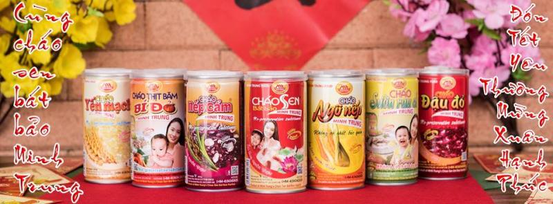 Các hương vị cháo ăn liền của Minh Trung