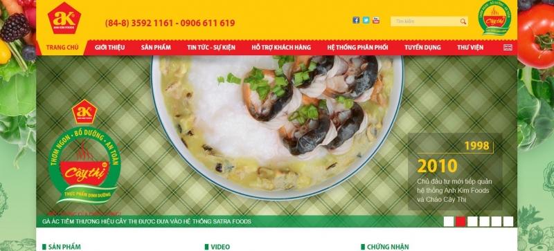 Website của cháo dinh dưỡng Cây Thị