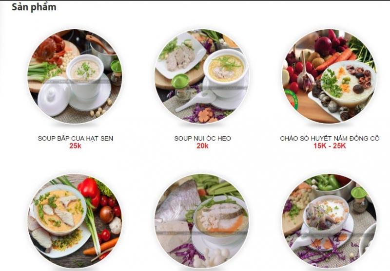 Một số món cháo của cháo dinh dưỡng Cây Thị