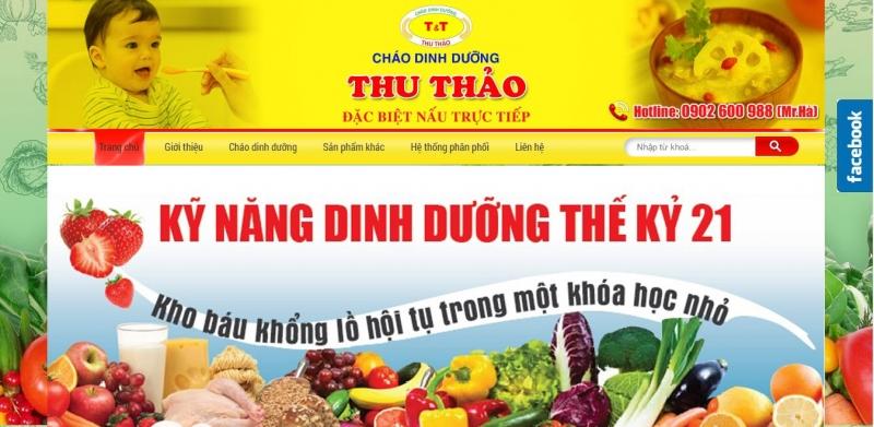 Website của cháo dinh dưỡng Thu Thảo