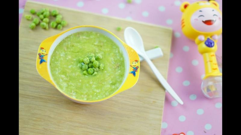 Cháo sườn heo nấu đậu Hà Lan là một trong những cách nấu cháo dinh dưỡng cho bé hấp thu tốt