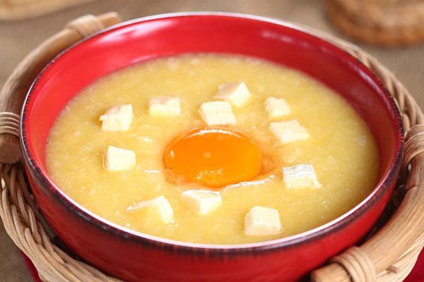 Cháo trứng, đậu hũ