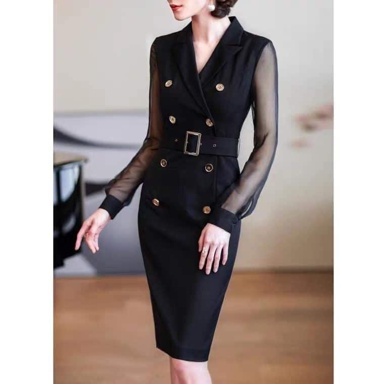 Đầm đen quý phái và thanh lịch