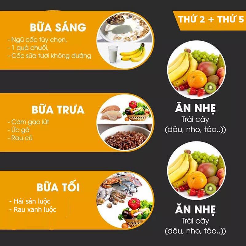 Chế độ dinh dưỡng hợp lý giúp giảm cân