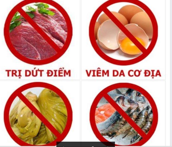 Nhóm thực phẩm không nên ăn