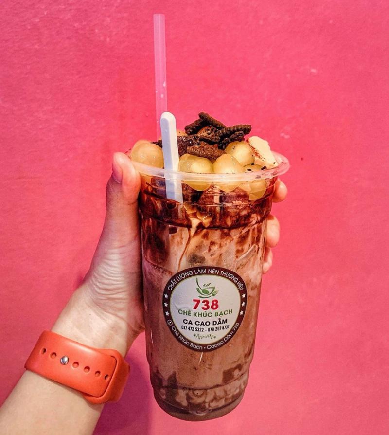 Món cacao dầm béo ngậy thơm ngon, ăn một lần là nhớ mãi nhưng ăn nhiều cũng không bị ngấy.