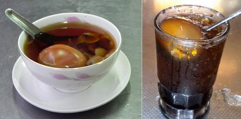 Chè trứng gà trà tàu