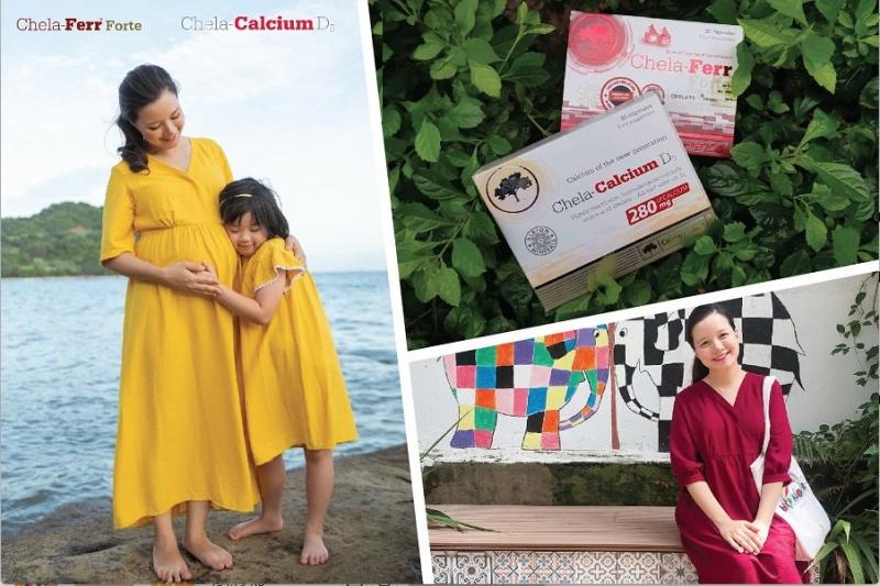 MC Minh Trang lựa chọn Chela-Calcium D3 và sắt Chela-Ferr Forte trong thai kỳ, sau sinh