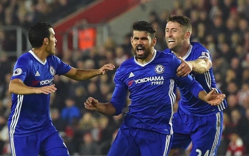 Chelsea đang dẫn đầu trên bảng xếp hạng