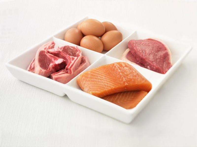 Thịt, cá, trứng đều là thực phẩm chứa chất đạm