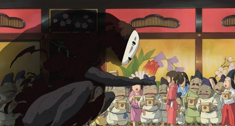 Chihiro thản nhiên trước đống vàng của Vô diện.