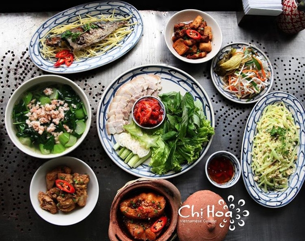 Bữa cơm tiêu biểu ở Chị Hoa Vietnamese Cuisine