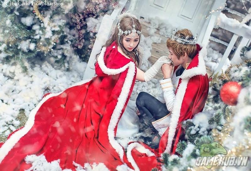 Nữ hoàng xinh đẹp quyến rũ giữa tuyết trắng