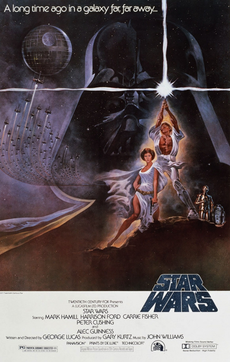 Poster phim Star Wars năm 1977