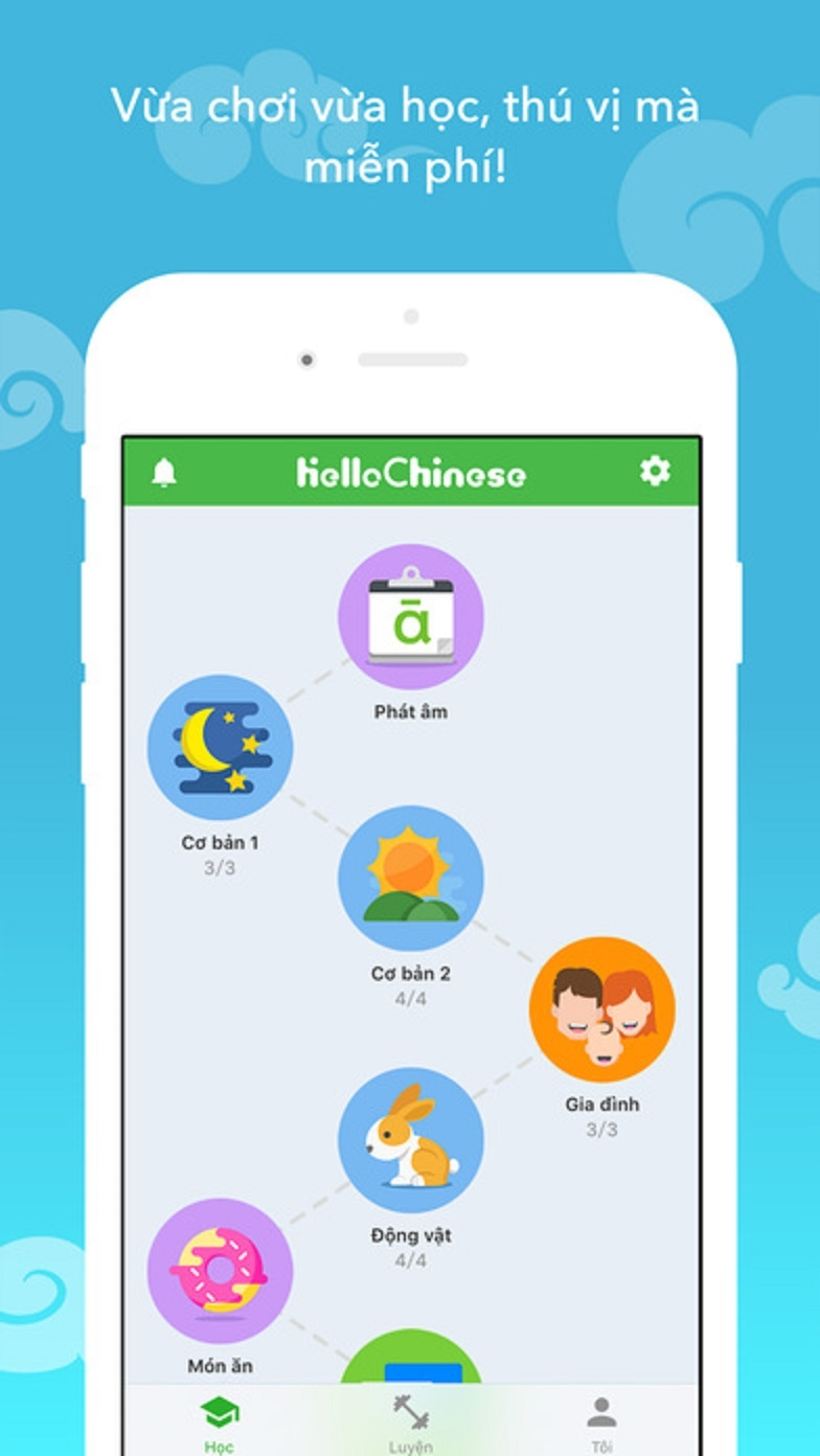 ChineseSkill: một app tuyệt vời, miễn phí cung cấp lớp học di động cho người bắt đầu học tiếng Trung
