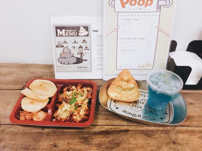 Bánh Poop và gà Tokbokki
