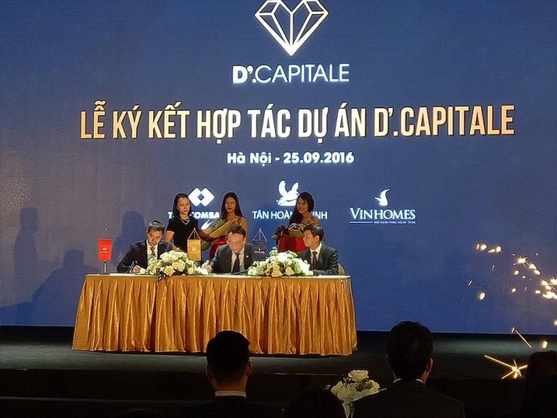 Vingroup hợp tác cùng Tân Hoàng Minh và Techcombank triển khai dự án D'.Capitale