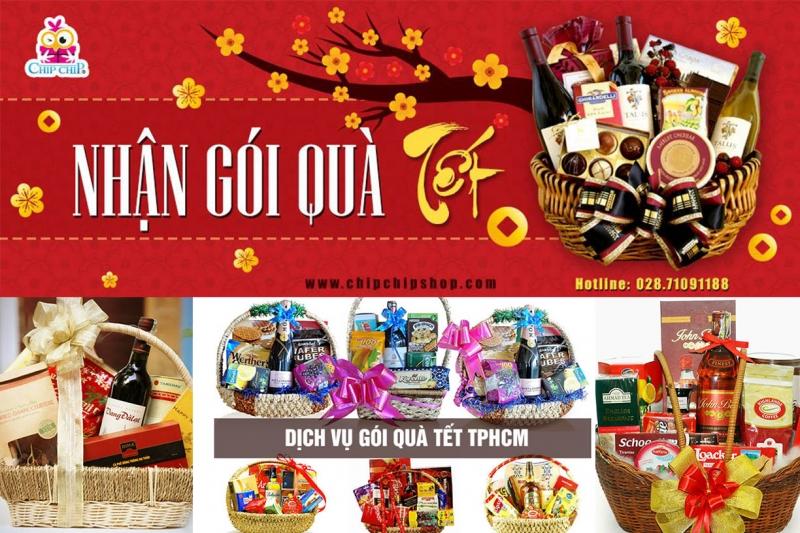 Dịch vụ gói quà tết phủ sóng hầu khắp Sài Thành