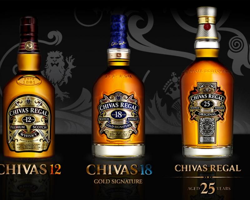 Một số sản phẩm của Chivas (Nguồn: Sưu tầm)