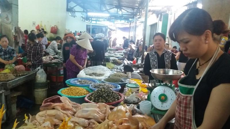 Những loại hải sản tươi ngon được bày bán