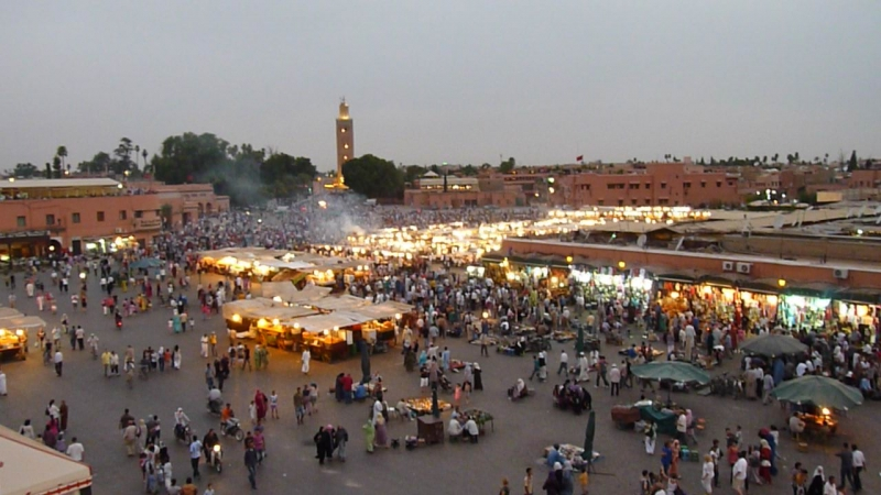 Chợ Jemaa El Fna, Marrakech, Morocco