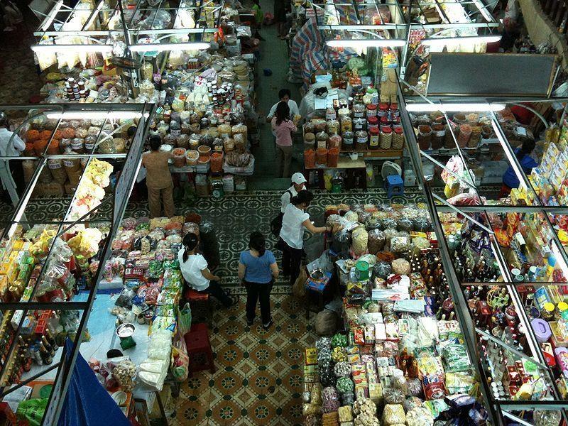 Không gian chợ thoáng đãng