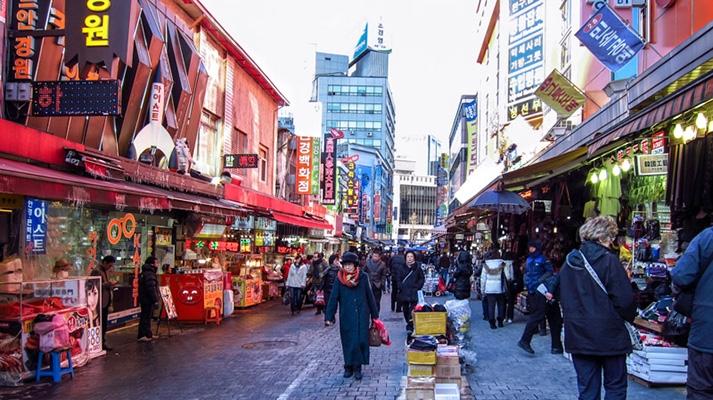 Khu chợ Namdaemun mang đậm nét truyền thống
