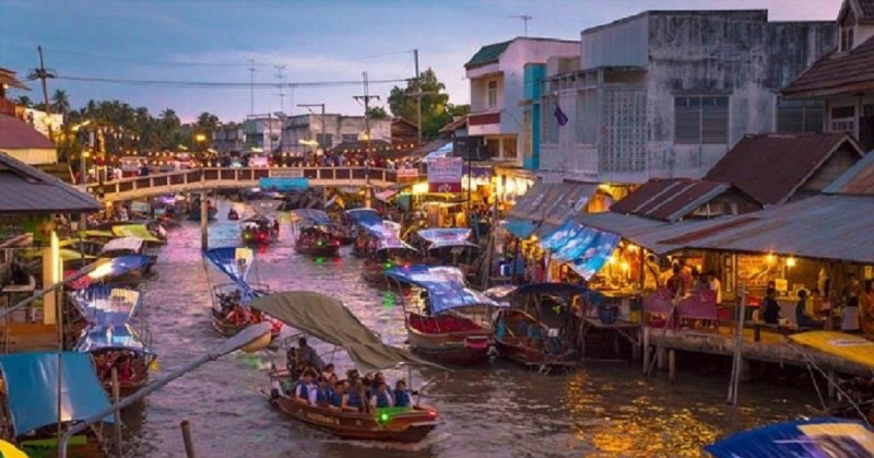 Chợ nổi Amphawa Bangkok - Thái Lan