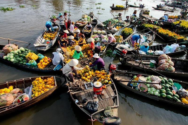 Chợ nổi An Hữu – Cái Bè (Tiền Giang)