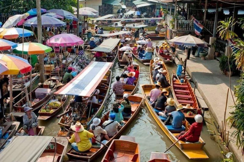 Chợ nổi Bang Khu Wiang, Thái Lan