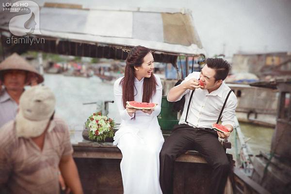 Bức ảnh cưới bình dị tại chợ nổi Cái Răng