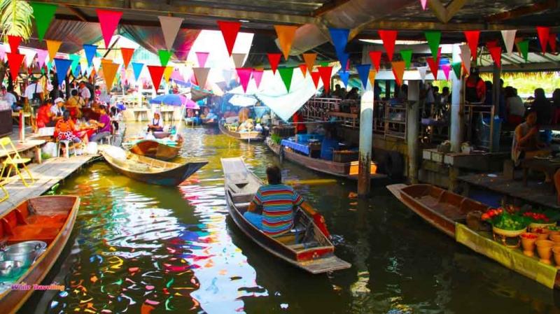 Chợ nổi Taling Chan - Thái Lan