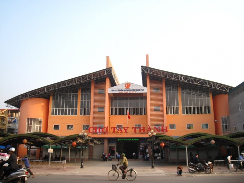 Cổng chính chợ Tây Thành