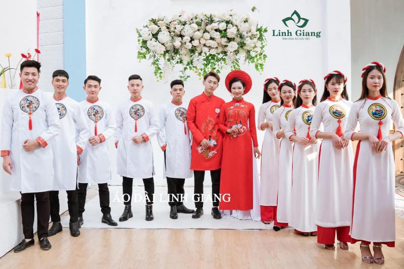 Cho thuê áo dài cưới hỏi đẹp nhất Phú Thọ - Áo Dài Linh Giang