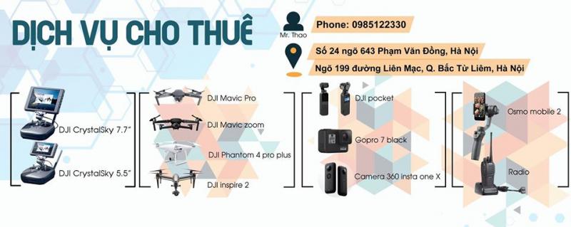 Cho thuê flycam/gopro/osmo pocket /osmo mobile2 /bộ đàm giá rẻ tại hà nội