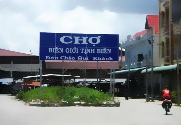 Landscape of Tinh Bien market (An Giang)