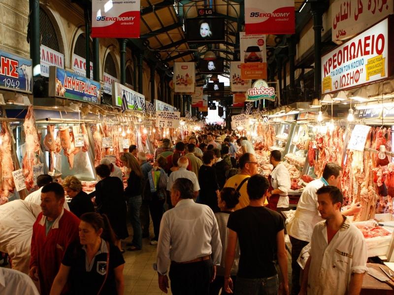 Chợ Varvakios Agora, Athens