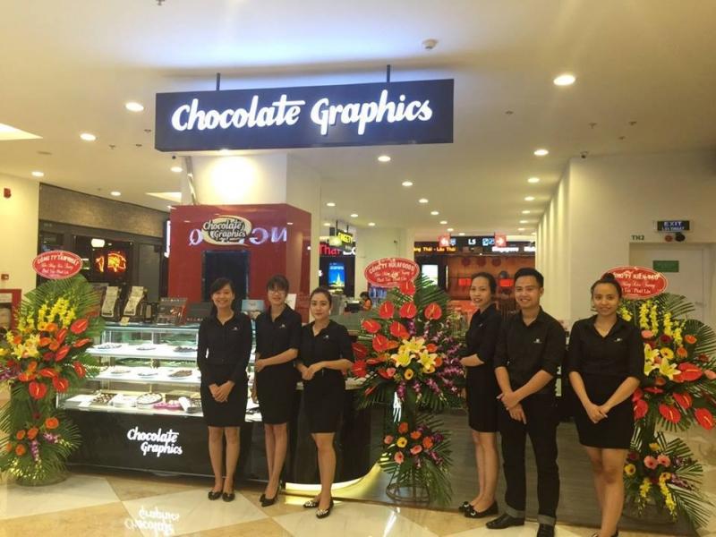 Showroom Chocolate Graphics trong ngày khai trương