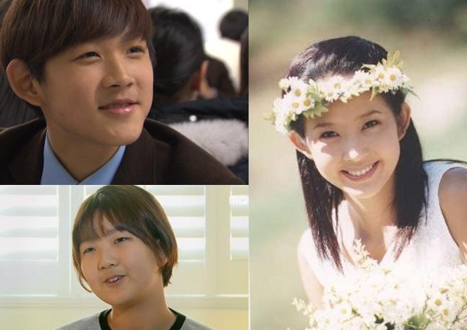 Choi Jin Sil cùng 2 con