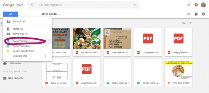 Chọn Google Docs