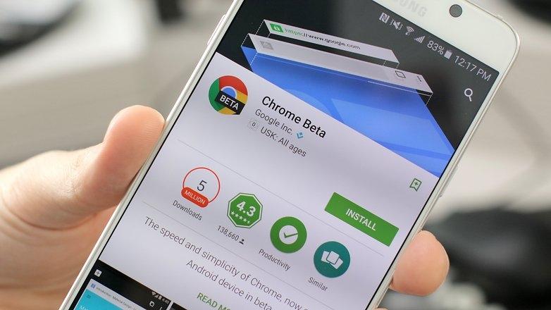 Chrome Beta là một trong những những ứng dụng hay nhất dành cho Android