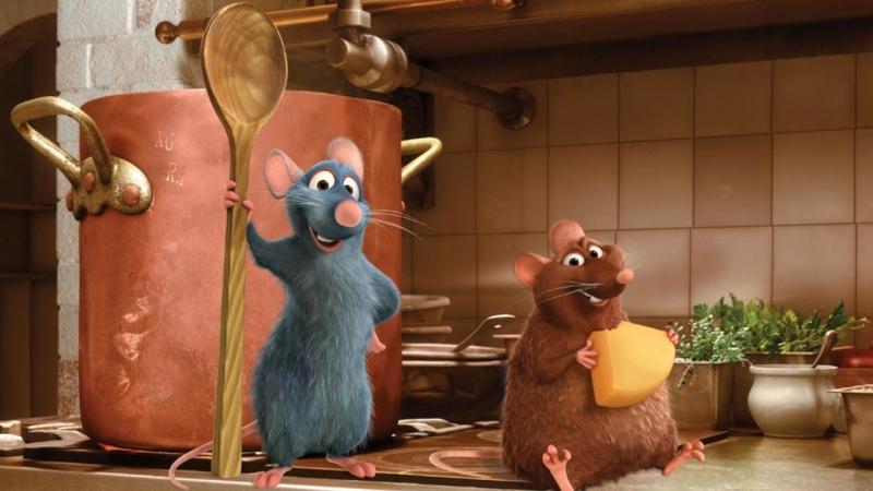 """Còn có tên gọi đơn giản và dễ hiểu là """"Chú chuột đầu bếp"""", Ratatouille kể về chú chuột nhỏ luôn đam mê giấc mộng đầu bếp của mình."""